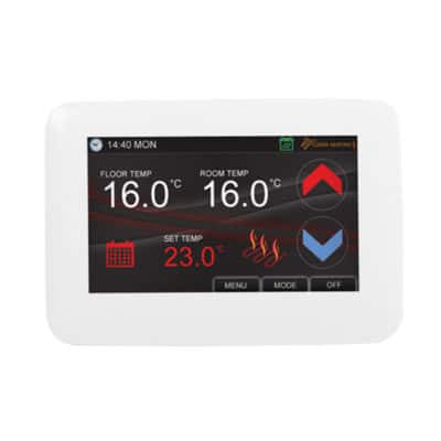 White Colour Touch Screen Thermostat