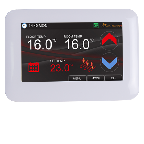 colour touch screen thermostat