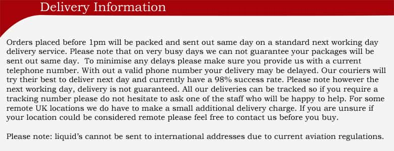 Delivery orders placed before 1pm will be sent out same day on a standard next working day , terms and conditions apply