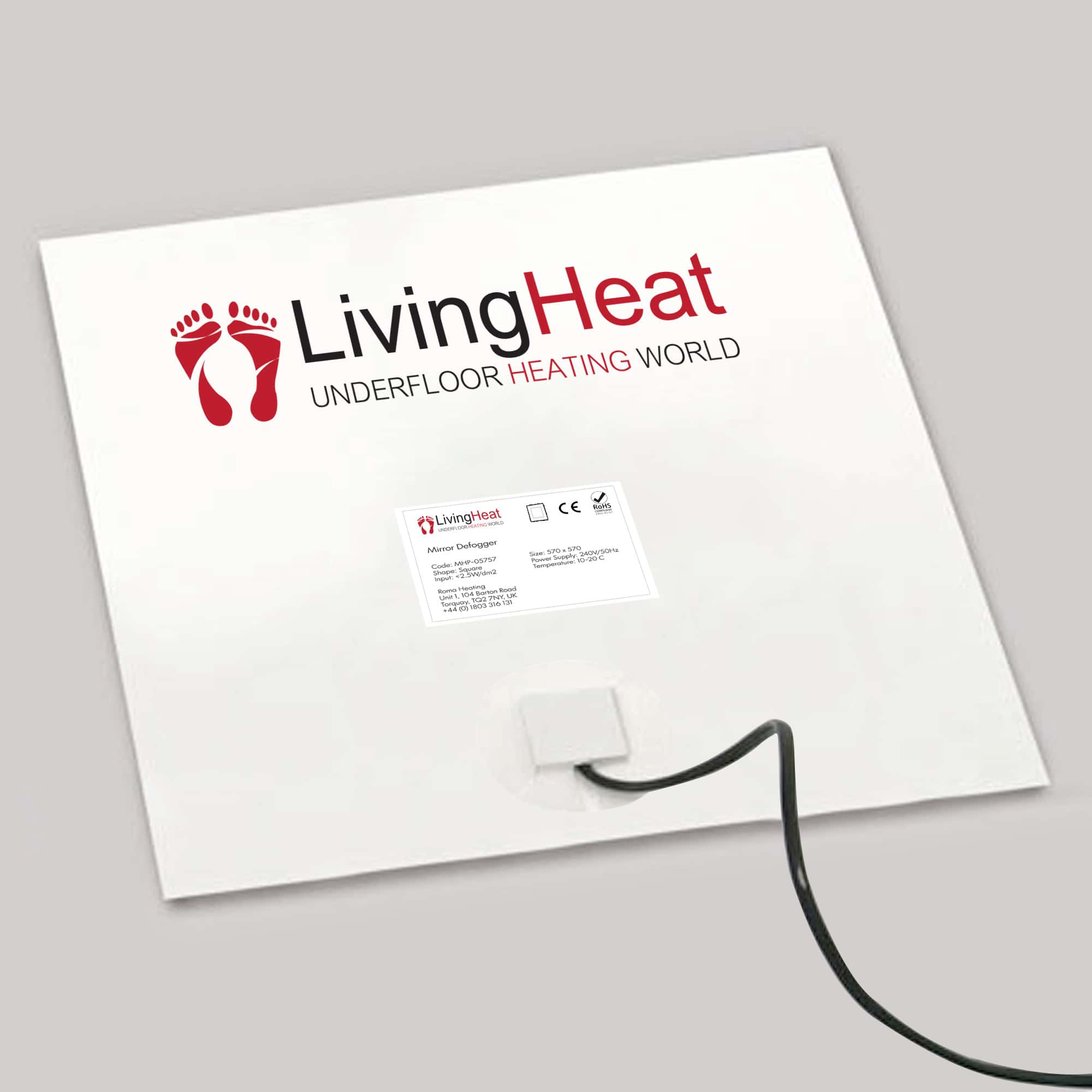 Bathroom Mirror Demister Demisting Heating Pad Steam Free In Square