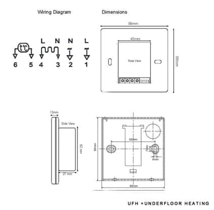thermostat_diagram wiring schematic diagram guide basic thermostat wiring diagram nuheat thermostat wiring diagram at aneh.co