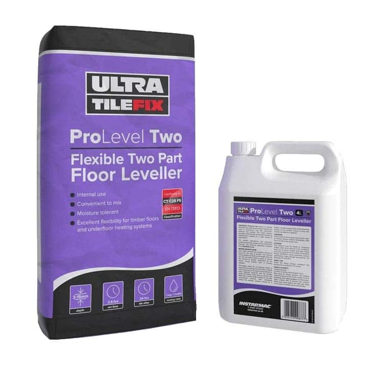 Underfloor heating adhesive and leveling