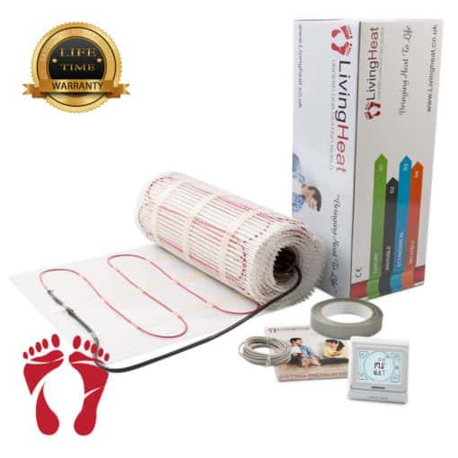 Underfloor Heating Mat with touch screen thermostat