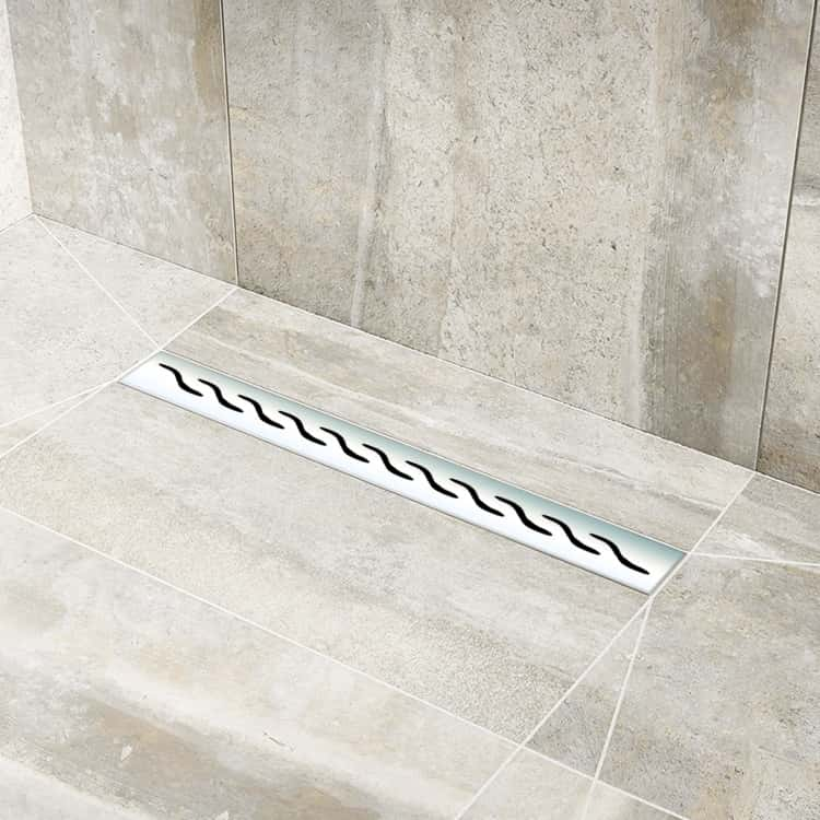 Shower Lay Wetroom Tray With Linear Drain Designed For Tiled Wetrooms