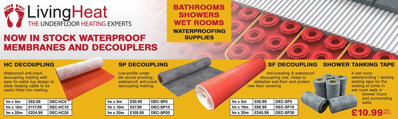 Now in stock Waterproof Membranes and Decouplers