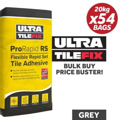 UltraTile Fix ProRapid RS Flexible Tile Adhesive 20Kg / GREY