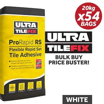 UltraTile Fix ProRapid RS Flexible Tile Adhesive 20Kg / WHITE