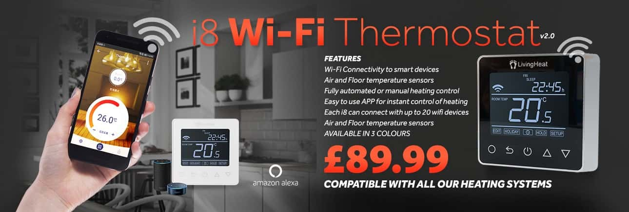 i8 Wi-Fi Thermostat from Living Heat