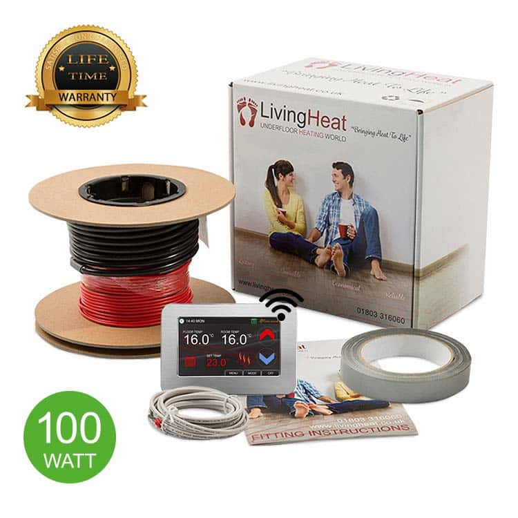 100w/m2 Under Tile Floor Heating Loose Wire Cable Kits