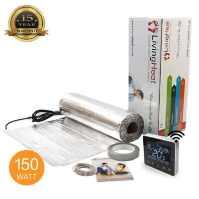 Living Heat 150 Watt Under Floor Heating Aluminium Foil System