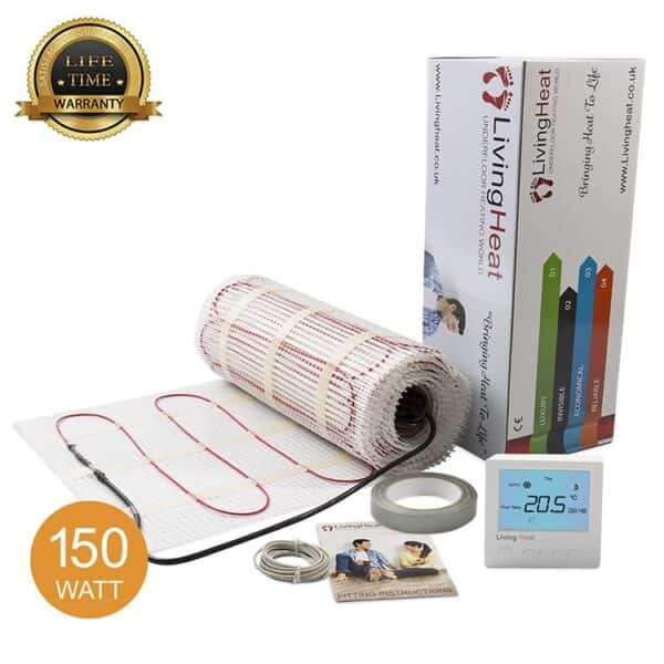 Living Heat 150 Watt Under Floor Heating Mat System