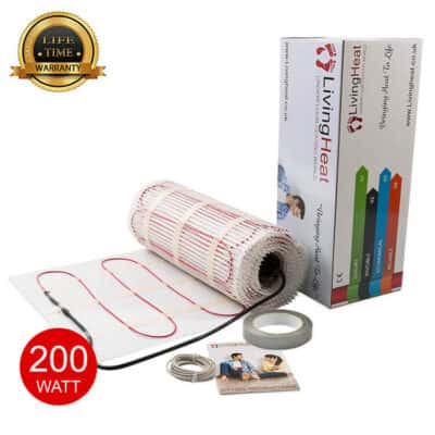 Living Heat 200 Watt Under Floor Heating Mat System
