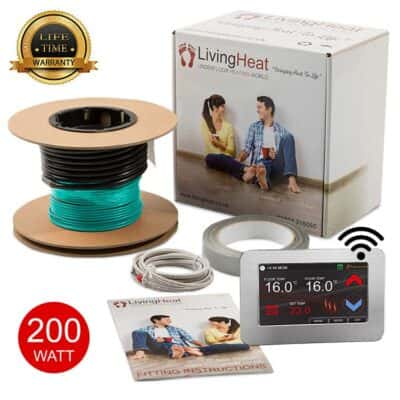 Living Heat 200 Watt Under Floor Heating Inscreed Cable System