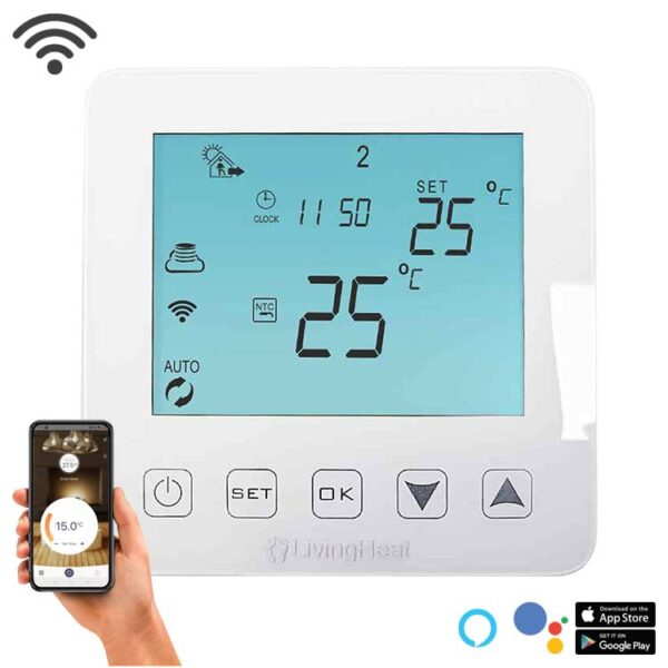 Living Heat Wi5 - Wi-Fi Underfloor Heating Thermostat