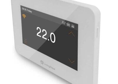 I9 Thermostat Side Profile White